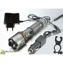 Велосипедный светодиодный фонарь UltraFire с диодом XM-L T6 + ЗУ + ЗУ в авто + крепление