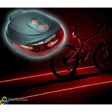 Задний велосипедный фонарь с лазерными дорожками