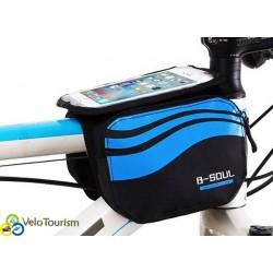 """Нарамная велосипедная сумка B-Soul с отделением для смартфона до 5,7"""""""