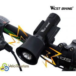 Фонарь со звуковым сигналом West Biking