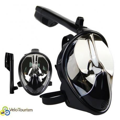 Полнолицевая панорамная маска для плавания (дайвинга, снорклинга) (L/XL)
